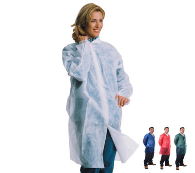 Polypropylene Disposable Lab Coat with Velcro Fastening