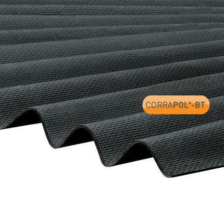 Corrugated Bitumen Roofing Sheet Black 2mtr X 930mm High Profile Corrapol Goodwins