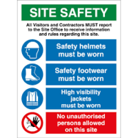 SITE SAFETY SIGN PVC