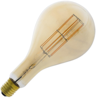 CALEX GIANT LED FILAMENT DIMMABLE  GLS SPLASH  PS160 11 WATT LAMP 240 VOLT E40 2100K GOLD FINISH 1100 LUMEN