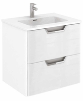 SONAS LYON 60CM WALL HUNG VANITY UNIT WHITE GLOSS W600MM X D460MM