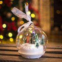 Winter scene LED ornament Small