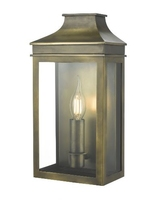 Vapour Coach Lantern Wall Light IP44, Weathered Brass  | LV1802.0170