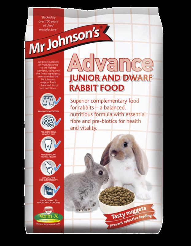 Mr Johnsons Advance Junior & Dwarf Rabbit Food 1.5kg