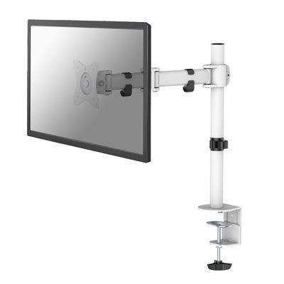 """Newstar Full Motion Desk Mount (clamp & grommet) for 10-30"""" Monitor Screen, Height Adjustable - White"""