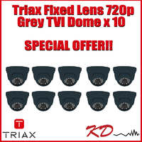 Triax Fixed Lens 720p TVI Dome  Grey X 10