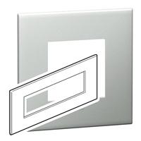 Arteor (British Standard) Plate 8 Module Square Pearl Alu | LV0501.0119