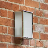 HOMEFIELD FROSTED POLISHED NICKEL WALL LIGHT IP44   LV1702.0151