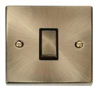 Deco Antique Brass 10A 1G 2W Switch