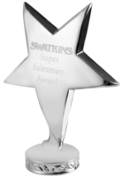 10cm Metal Standing Star (Silver)