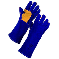 Weld Plus Welders Gauntlet, Blue/Yellow, Pair