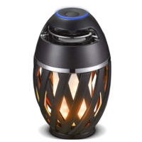 LUCECO FLAME BLUETOOTH SPEAKER RECHARGEABLE LED LAMP SIMULATES FLAME EFFECT