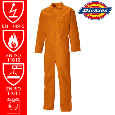 Dickies FR Boilersuit Orange