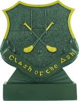 12.5cm Clash of the Ash Plaque (Graphite & Go