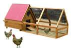 Lazy Bones Wooden Hen House & Run - Triangular x 1
