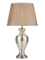 Elizabeth Table Lamp, Antique Silver Glass Complete with Shade | LV1802.0130