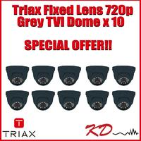 Triax Fixed Lens 720p TVI Dome  Grey X 10