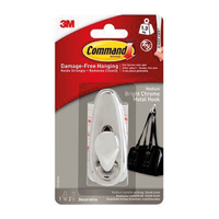 Command Medium Metal Hook Bright Chrome FC12-BC