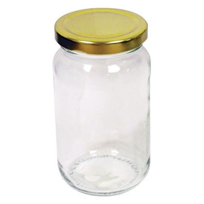 Preserving Jar with Gold Screw Top Lid 450gm/1lb (133V2)