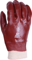 Polyco P10R Red PVC Knitted Wrist Glove