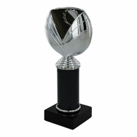 20cm Silver Cup & Black Tubing on Marble