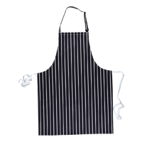 Portwest Butchers Apron Navy/White Stripe
