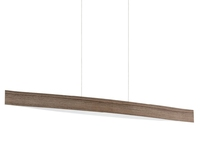 24w LED Bar Pendant Light in Walnut Effect. Warm White Light | LV1902.0007