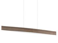 24w LED Bar Pendant Light in Walnut Effect. Warm White Light | LV1902.0007