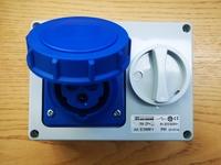 32 Amp 2P+E Interlocked Socket IP65