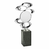 28cm Silver Spiral Blaze Trophy on Marble
