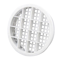 ROUND SOFFIT VENT 70MM - WHITE