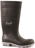 Bison Inca Safety Gumboot Black