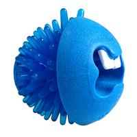 "Rogz Fred Medium Treat Ball - Blue 2½"" x 1"