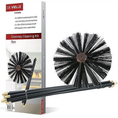 De Vielle 9 Piece Chimney Cleaning Kit
