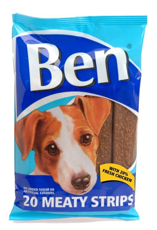 Ben Meaty Strips Chicken Dog Treats 13 x 20
