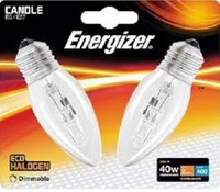 ENERGIZER ECO HALOGEN 28W (40W) E27 CLEAR CANDLE LAMP CARD 2