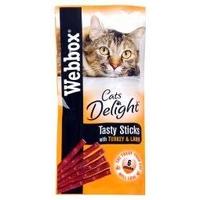 Webbox Cats Delight Sticks - Turkey & Lamb 6-Stick x 25
