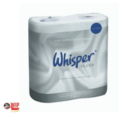 TOILET ROLL 2pl c/s40 WHISPER SILVER