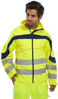 B-Seen Eton Hi-visibility Yellow Soft Shell Jacket