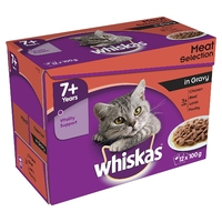 Whiskas Pouches - 7+ Senior Meat Selection Gravy 100g 12-Pack x