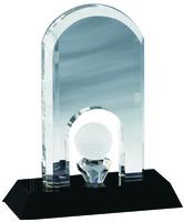 18cm Crystal Golf Trophy | TC31