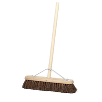 "18"" Contract Stiff Bassine Platform Broom & Handle - 11.305HS3 (WT492)"