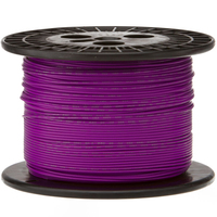Electronic Wire Tinned Copper 1000Meters Spool Purple