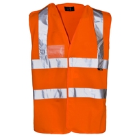 Supertouch Hi-Visibility Pull Apart Vest with ID Pocket, Orange
