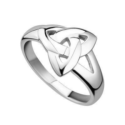 sterling silver plain trinity knot ring s2679 from Solvar