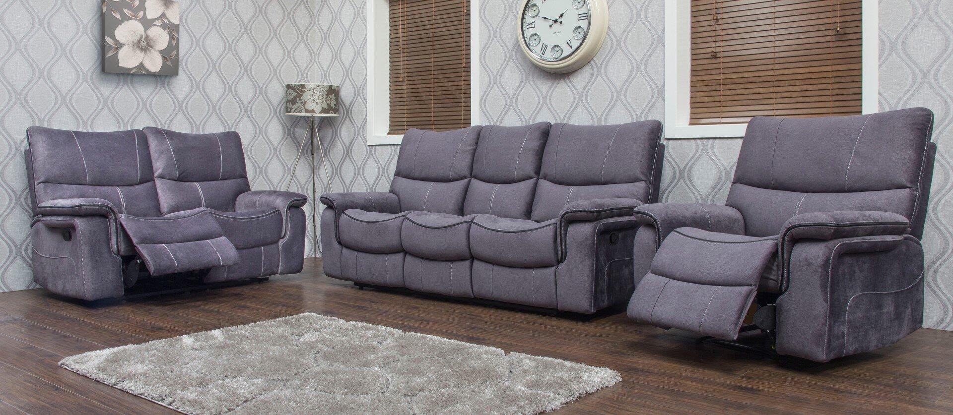 Emilio Fabric Sofa - Dark Grey 2