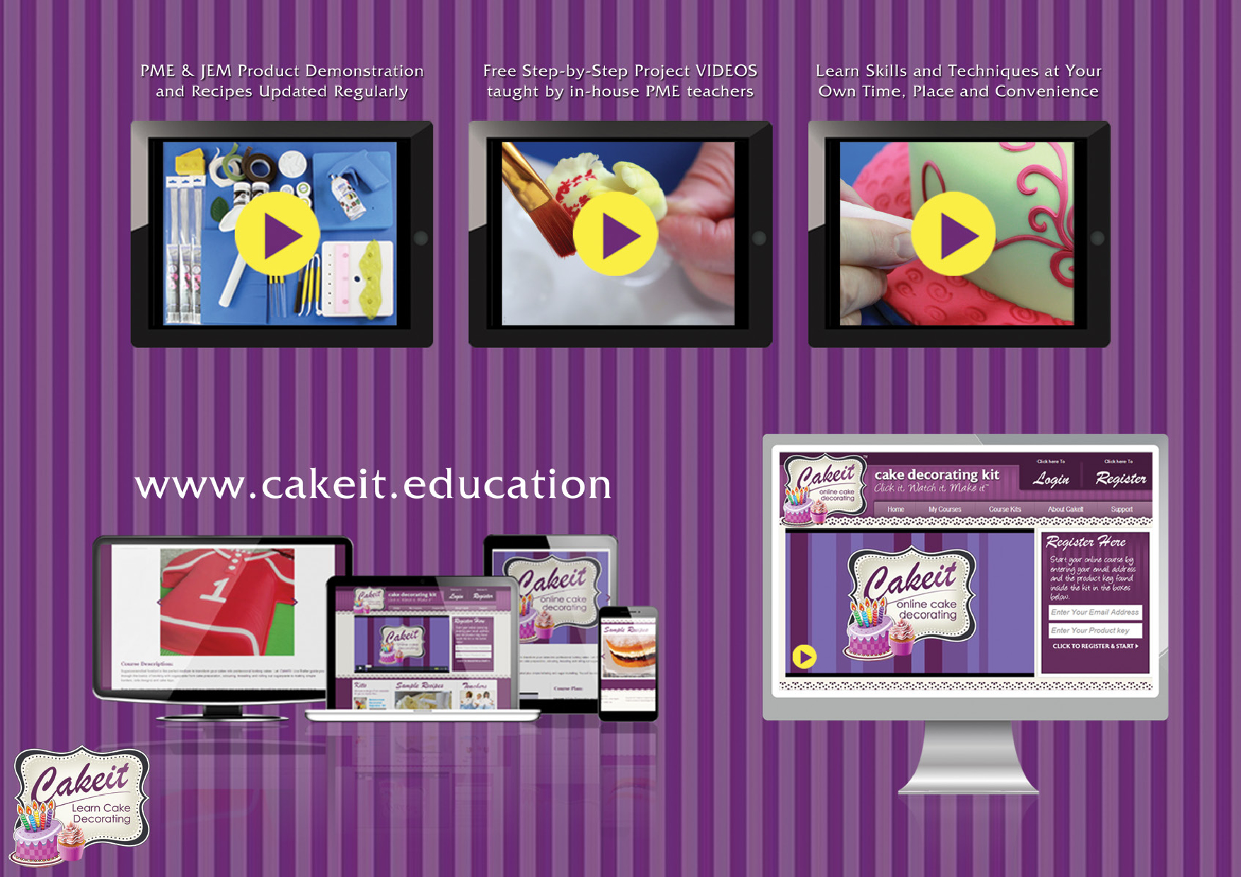 CAKE IT (online cake class)