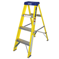 YOUNGMAN 4 STEP S/B  F-GLASS LADDER YELLOW