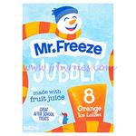Jubbly Ice Lollies Orange 62ml 8pk x6
