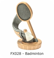 Badminton Flex Figure 75mm (Silver & Gold)